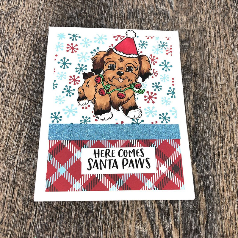 Puppy reindeer beesmetal cutting dies&cordinating stamps for