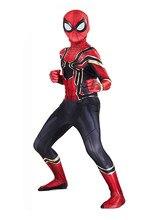 Crianças super-herói aranha cosply traje ternos trajes de halloween compatível crianças festa cosplay estilo 3d melhores presentes