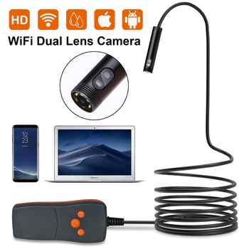 8mm 1/2/3/5M Dual Camera (Front Camera and Side View Camera ) WIFI Endoscope Pipe Endoscope Borescope  Android For Android PC - DISCOUNT ITEM  30% OFF All Category