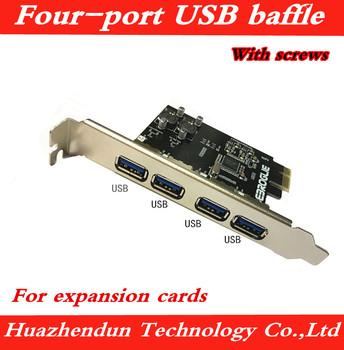 PCI 12CM baffle 4-port USB baffle with screws Suitable for expansion cards, etc. 20pcs free shipping