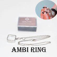 Magic Tricks Magician-Accessories Ambi-Ring Gimmick-Props Illusion Close-Up Silver/black