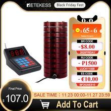 Retekess SU 668ร้านอาหารPager 10 Pager Buzzers Max 999 BeepersสำหรับรถบรรทุกอาหารคลินิกโรงพยาบาลWireless Paging System