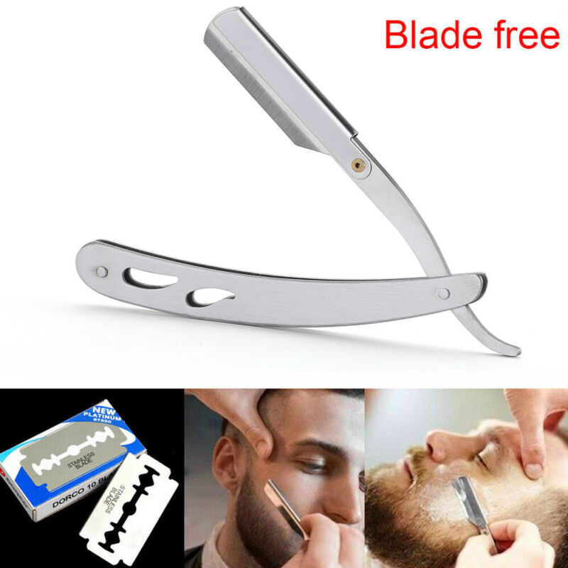 Men Barber Salon Straight Cut Throat Shaving Razor Shavette Rasoirs Rasoi Stainless Steel For Barber Shop