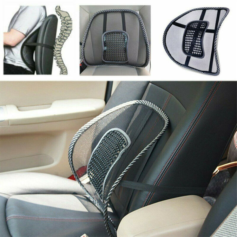 Mesh Back Lumbar Support Vent Waist Cushion For Car Truck Seat Office Home Chair
