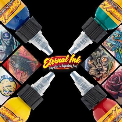 (25 Color Tattoo Ink Set)Tattoo & Body Art Permanent Makeup Pigment Color Tattoo Ink Sets 1 Oz Body Paint 1