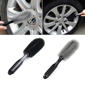 Car Wheel Wash Brush Plastic Handle Vehicle Cleaning Brush Wheel Rims Tire Washing Brush Auto Scrub Brush Car Wash Sponges Tools image