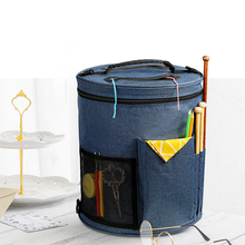 Yarn Sewing Tool Small sewing basket Projects Bags Yarn Storage Organizer DIY Apparel Needlework Storage Knitting Tote Bag tanie tanio CN(Origin) Yarn Sewing Bag Storage Rolls Bags