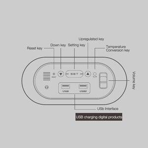 Image 5 - טמפרטורת תצוגת HD LED תצוגה עם תאורה אחורית שעון אלקטרוני שולחן עבודה שעון מראה דיגיטלי שעון מעורר נודניק שעוני שולחן