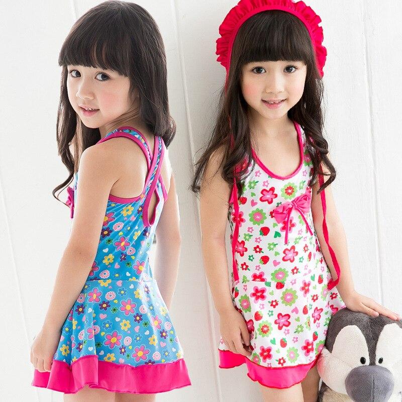 Youyou KID'S Swimwear Girls One-piece Cute Princess Dress-Baby Bathing Suit Big Boy Swimwear Hot Springs Bathing Suit