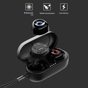 Image 3 - Настоящие беспроводные наушники T1, Bluetooth наушники Премиум звук со светодиодным индикатором/Smart Touch/микрофон/водонепроницаемый/ремешок