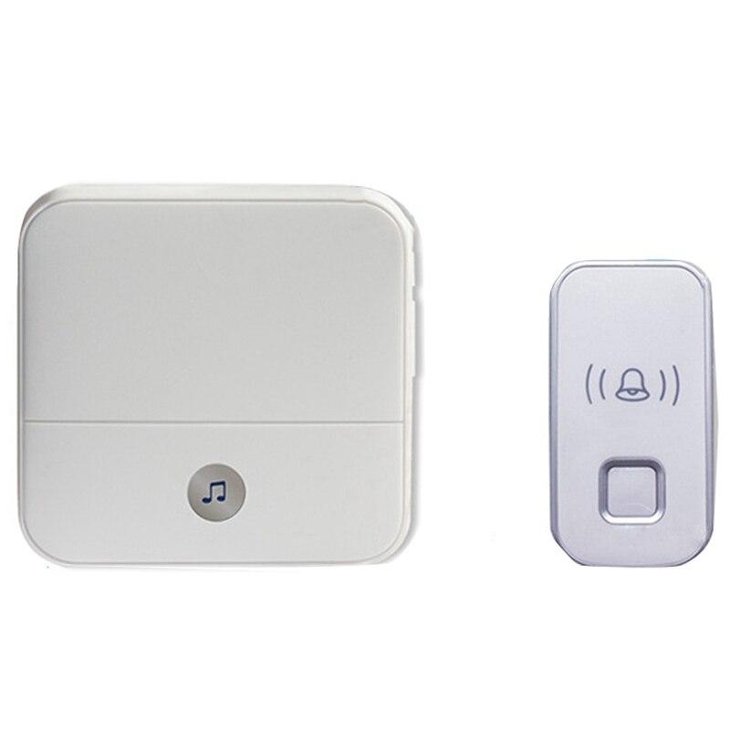 Wireless Doorbell Waterproof Remote Intelligent Doorbell 52 Bell Sound Alarm One For One(Eu Plug)