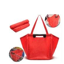 Складная тележка супермаркет Экологически чистая хозяйственная сумка из ДАКРОНА ручной ткани Оксфорд складывающийся пакет для покупок хранения