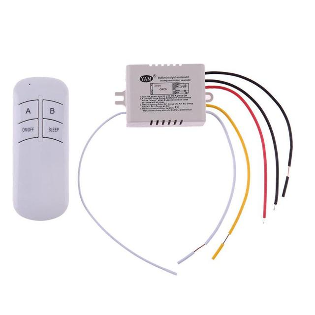 ワイヤレスオン/オフ 1/2/3 の方法 220V ランプリモートコントロールスイッチレシーバトランスミッタコントローラ屋内ランプホーム交換部品