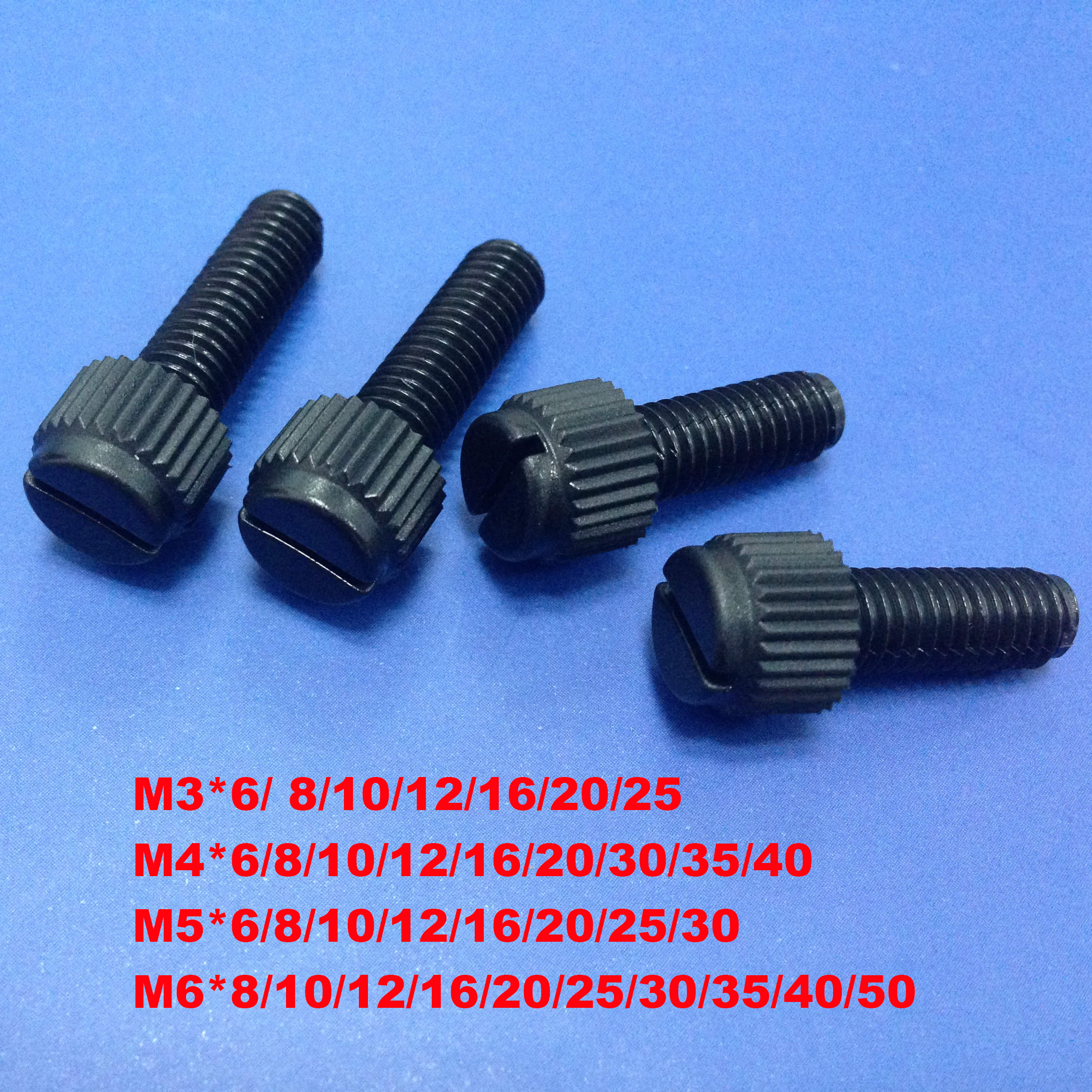 10x Knurled Nut with M4 Thread from Plexiglas Polycarbonate in Clear Transparent