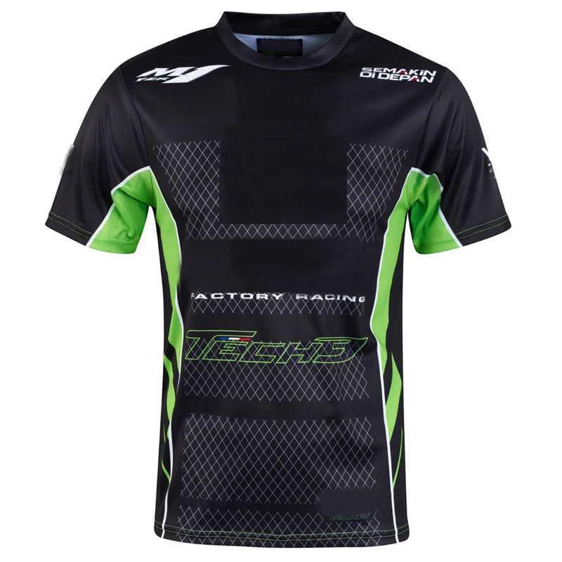 2019 New Moto Team Off-road Racing Jersey Black Green gp T-shirt Riding Motorbike Clothes