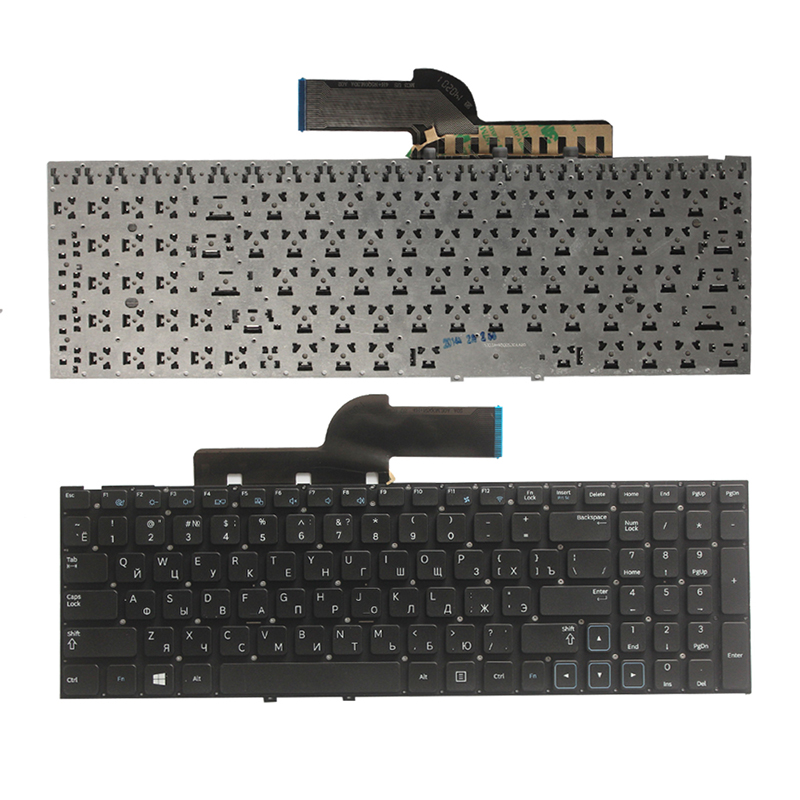 NEW Russian  Keyboard For Samsung NP300E5C 300E5C NP300E5X 300E5X  RU Lsptop  Keyboard No Frame Black