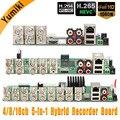 5 в 1 4CH/8CH/16CH AHD DVR видеонаблюдения безопасности CCTV рекордер DVR 1080N Гибридный DVR плата для аналогового AHD CVI TVI IP