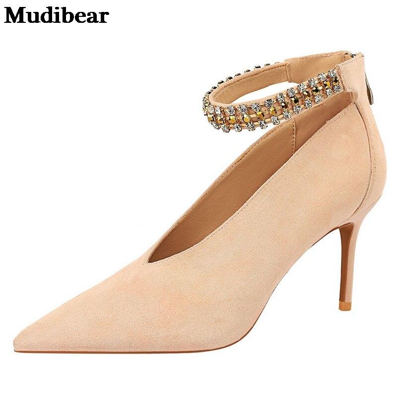 Купить туфли лодочки mudibear женские заостренный носок тонкий каблук