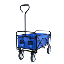 Folding Versatile Cart Utility Folded Shopping Cart Garden Wheel Barrow Wagon Cart Trolley Folding Camping Beach Wagon Cart(China)