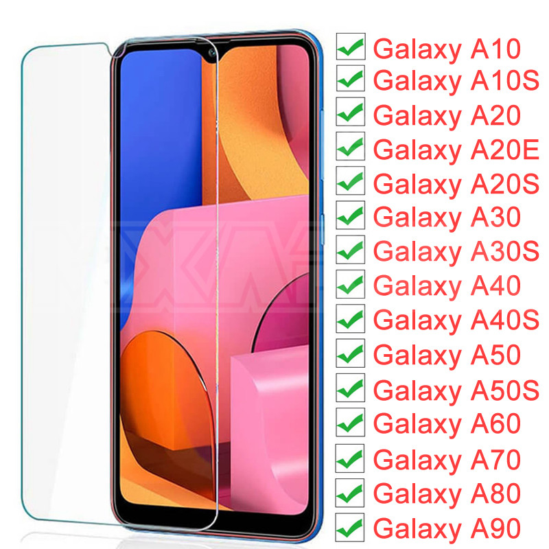 9H Protective Glass On The For Samsung Galaxy A10 A20 A30 A40 A50 A60 A70 A80 A90 A20E A30S A50S Screen Tempered Glass Film Case
