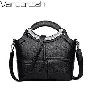 Image 2 - Bolso de mano con Concha a la moda para mujer, marcas famosas, de cuero, bandolera cruzada