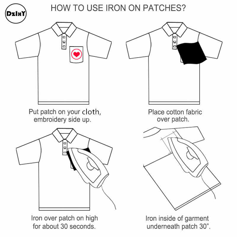 (46 Stijlen Kan Kiezen) zwart En Wit Borduurwerk Patches Voor T-shirt Ijzer Op Strepen Applicaties Kleding Stickers Kleding Badges