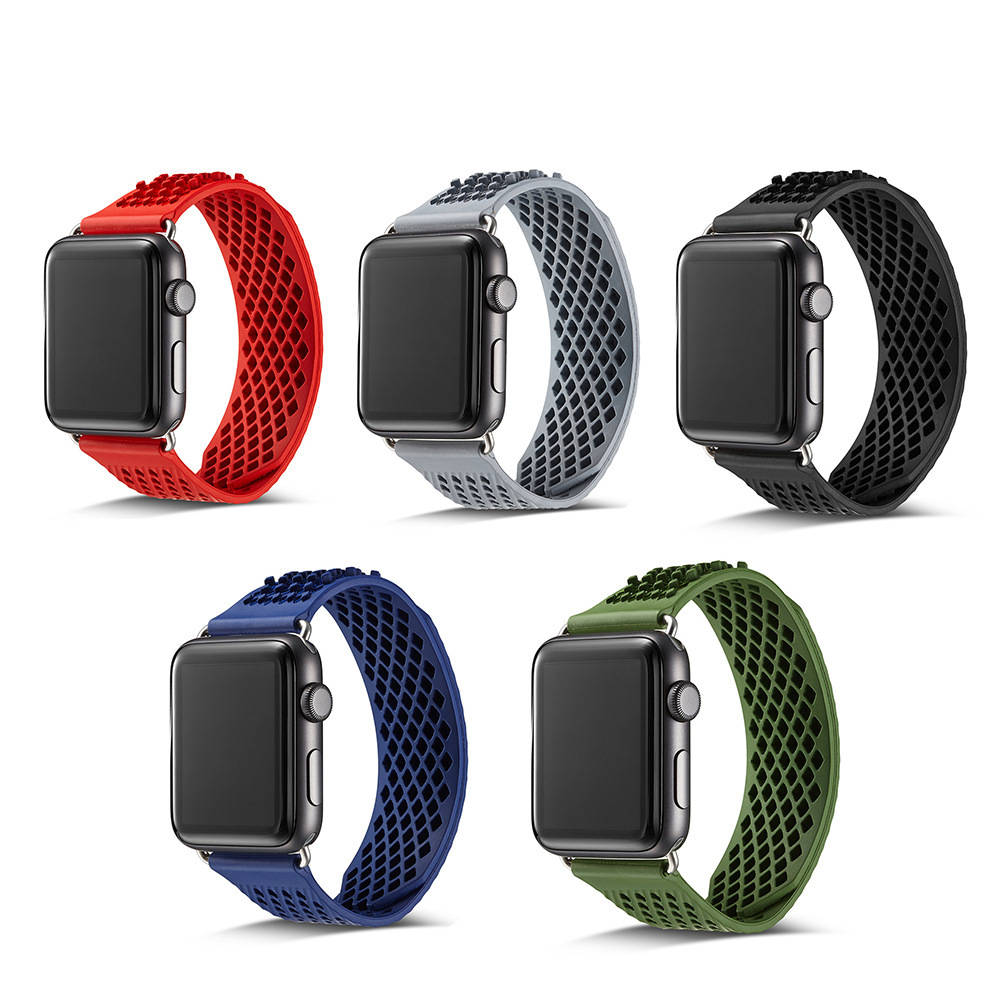 For Apple Watch No Buckle Watch Strap 1234 Generation Silicone Watch Strap IWatch 4-3 S Sports Breathable Watch Strap