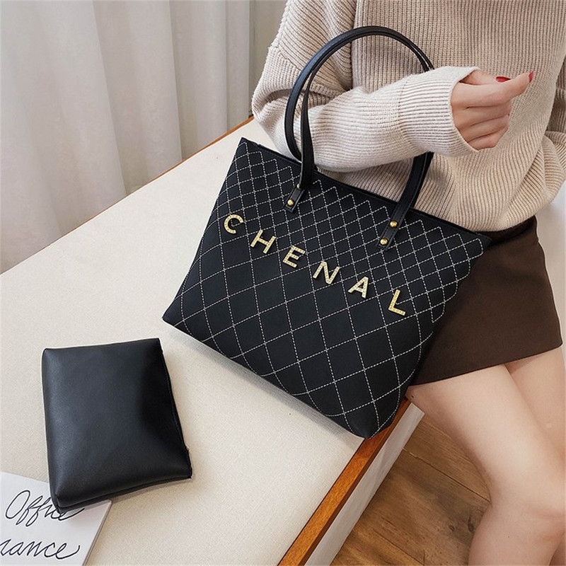 2019 Large Capacity Casual Totes Fashion Shoulder Messenger Bags Famous Design Letter Women Purse And Handbags Channel Louis Bag