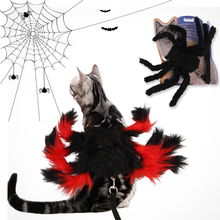 Dog-Leash Spider Decoration Puppy-Cat For Dogs with Pet-Dog Halloween-Costume Dress-Up-Props