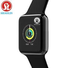 Novo relógio inteligente bluetooth para homem feminino smartwatch série 6 para ios iphone android telefone relógio de maçã huaweixiaomi (botão vermelho)