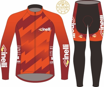 Custom Cinelli pro team top quality cycling jersey Red gradient outdoor race road bike clothes