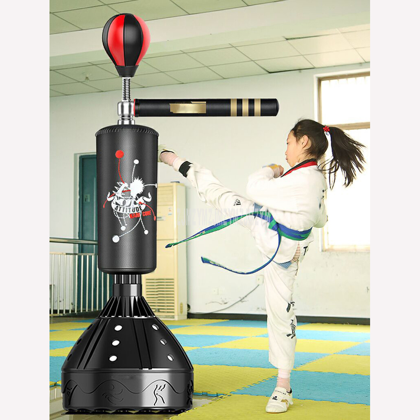 Upgrade Floor Standing Punching Bag Boxing Column Speed Ball 360 Degree Swing Bar Punchng Sport Sand Bag Pressure Relief Fitness