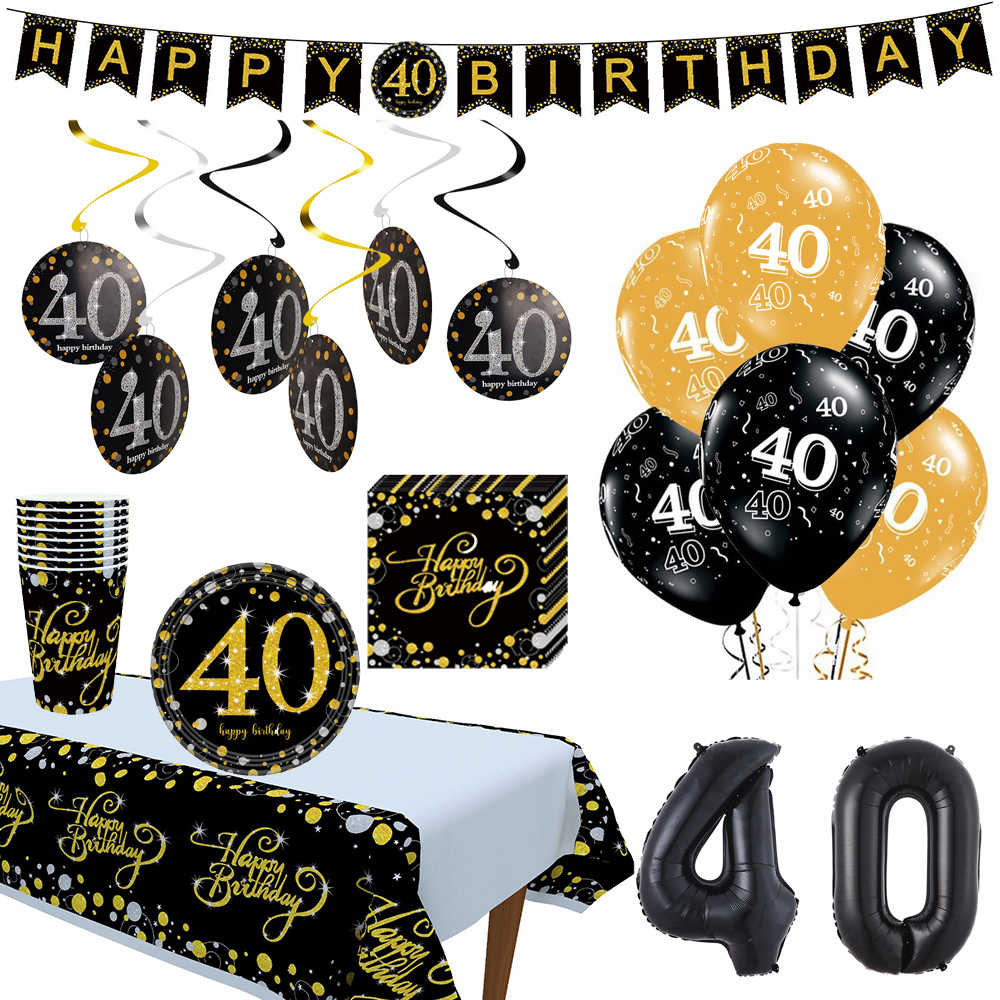10pcs 12inch 생일 풍선 공기 공 블랙 골드 30 40 50 생일 파티 장식 성인 헬륨 풍선 호일 라텍스 Baloon