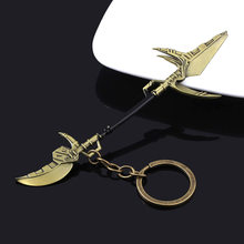 SG Avengers Infinity Wars Thanos Corvus Glaive Scythe Weapon Keychain Captain America Keyring Women Men Car Bag llaveros Jewelry(China)