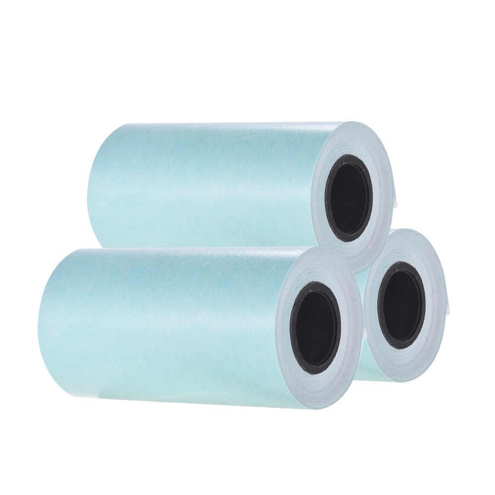Stampabile Adesivo Rotolo di Carta Termica Diretta di Carta con Auto-adesivo 57*30mm (2.17 * 1.18in) per PeriPage A6 Tasca Stampante Termica