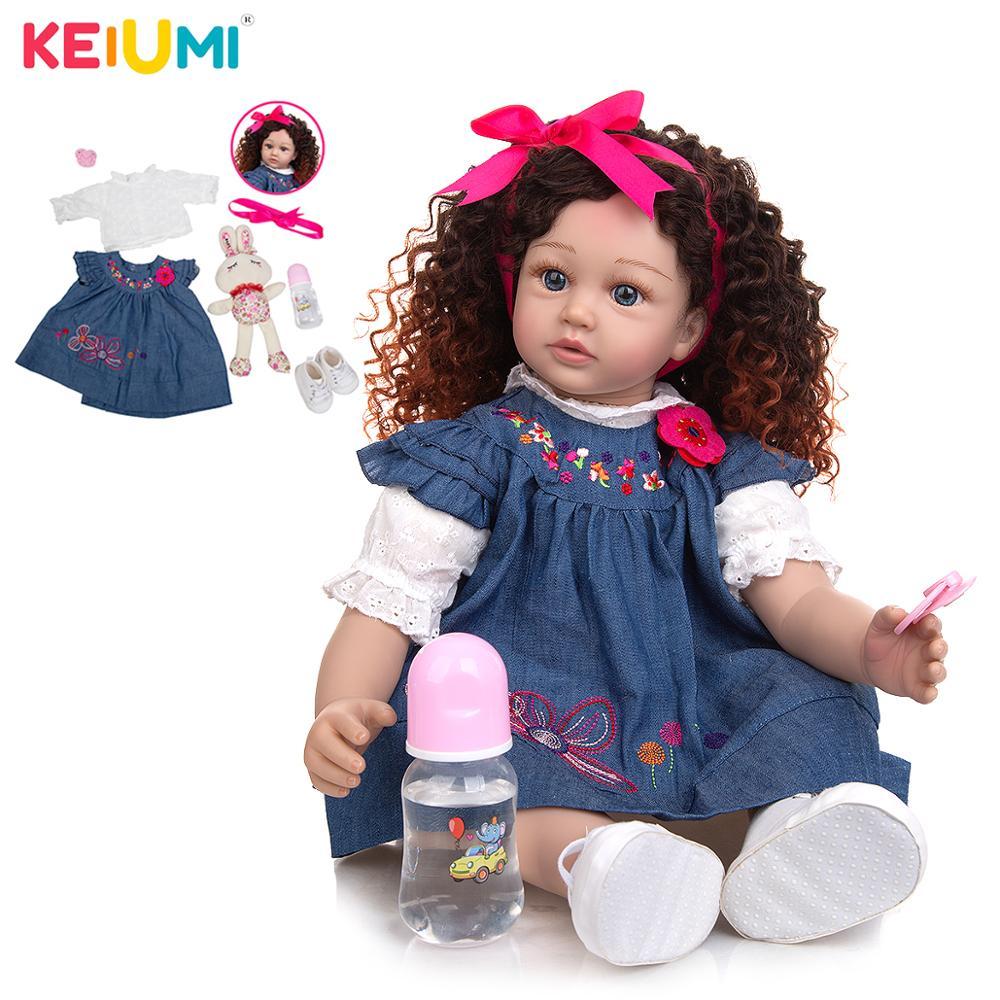 Кукла реборн KEIUMI, 24 дюйма, отличное качество, новинка 2020, аксессуары для малышей, подарок на день рождения для девочек, подарок на день рожден...