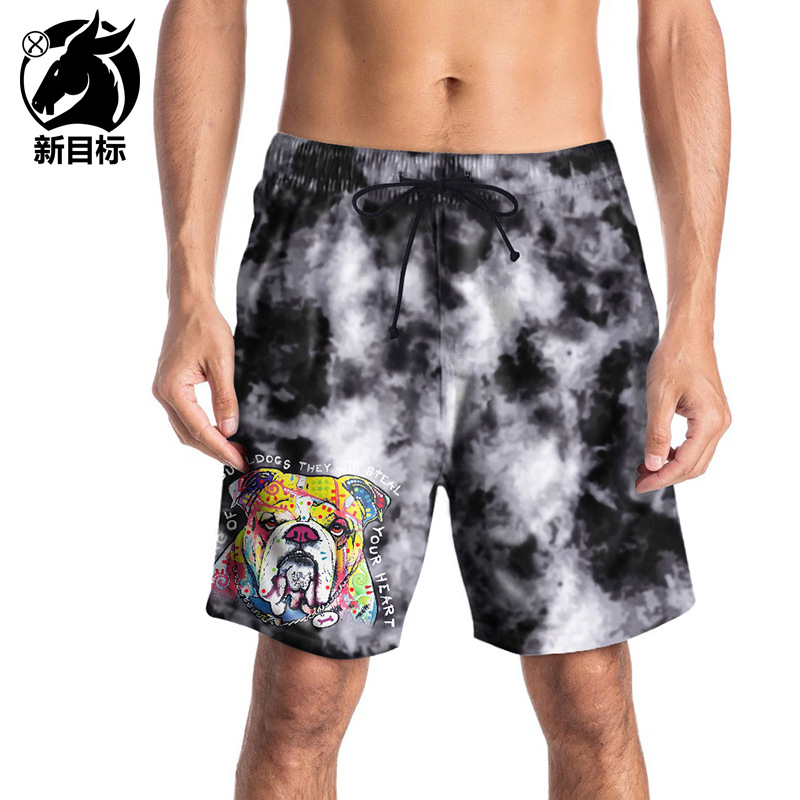 Large Size Swimming Trunks 2019 Summer New Style MEN'S Middle Pants 3D Cartoon Paparazzi Printed Beach Shorts Casual Popular Bra