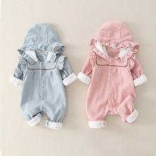 2020 Cute Baby kombinezon jednoczęściowy dla dziecięca odzież wierzchnia bawełna marchew noworodka pajacyki odzież dla niemowląt dziewczynka kombinezon chłopiec ubrania tanie tanio msnynieco Poliester COTTON Stałe Z kapturem Przycisk zadaszone Unisex Pełna M0531 Pasuje prawda na wymiar weź swój normalny rozmiar