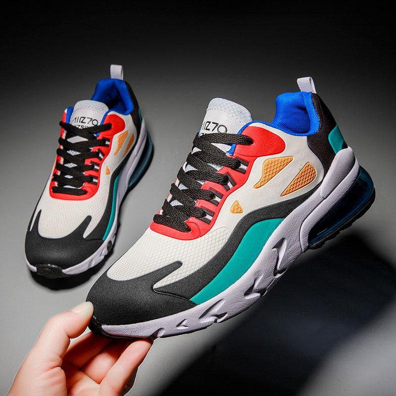 MWY Men Retro Casual Shoes Breathable Mesh Outdoor Walking Trainers Plus Size 47 Air Cushion Sneakers Zapatillas De Hombre