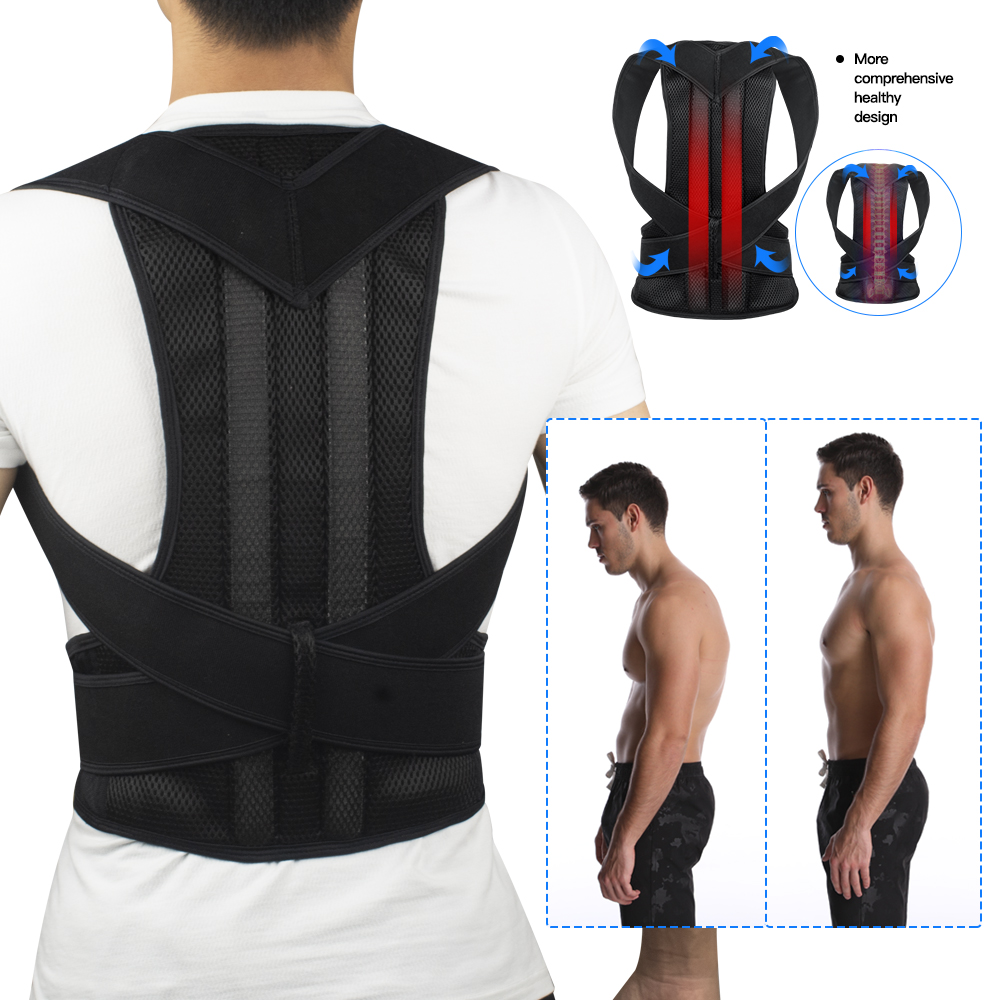 VIPLinkDropshipping  Adjustable Posture Corrector Shoulder Back Brace Support Lumbar Spine Support Belt Posture Correction