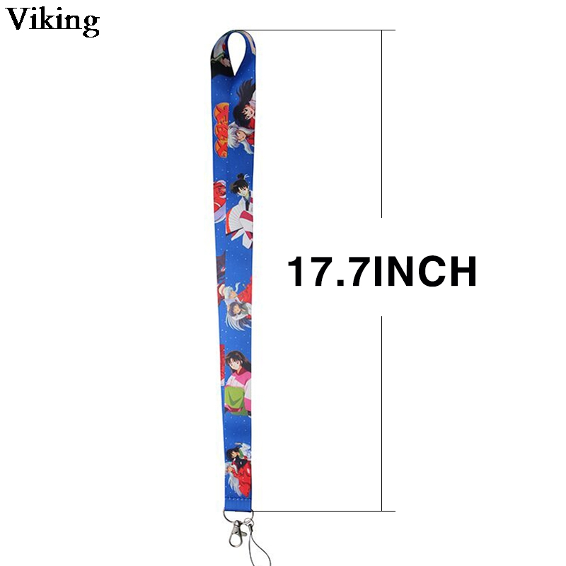 20pcs/set Inuyasha Anime Lanyard For keys Cool Phone Holder Neck Straps With Keyring ID Card Neck Strap Hang Rope Lanyard G0312