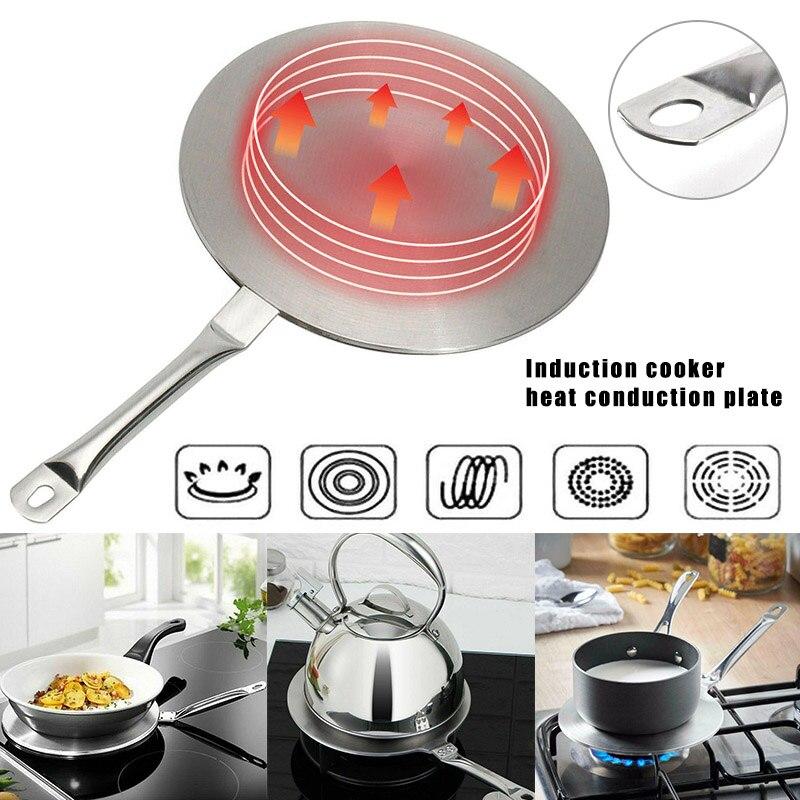 S//M//L en Acier Inoxydable Chaleur Diffuseur plaque induction Cuisinière conduction de la chaleur disque