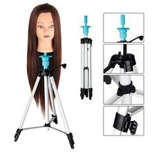 Adjustable Head Doll Stand for Practice Salon Hairdressing Training Head Mannequin Head Stand with Carry Bag 58 – 10(China)