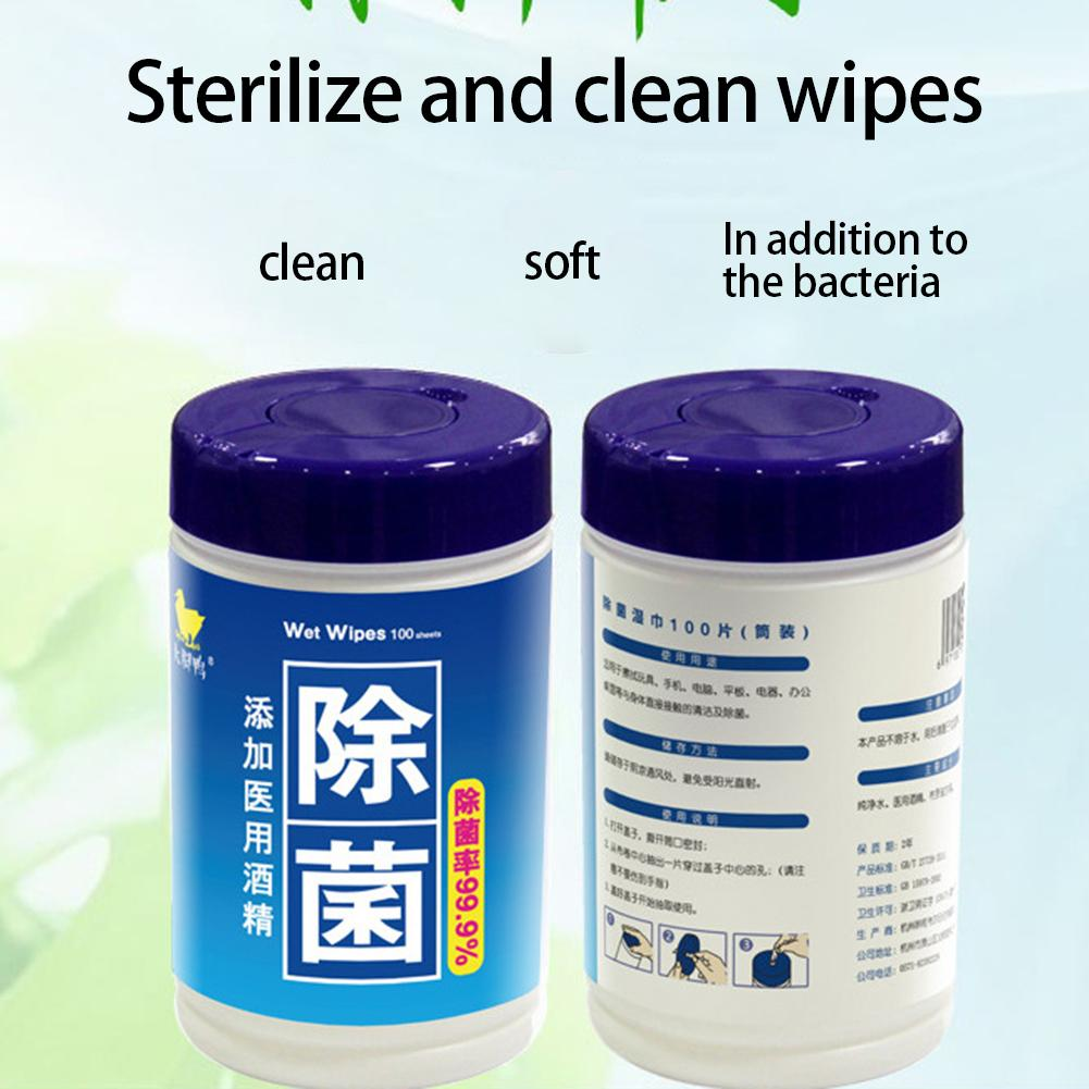 100Pcs Disposable Alcohol Disinfecting Wet Wipe Pads Hands Phone Cleaning Tissue Sanitizing Paper Towels