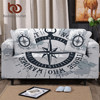 BeddingOutlet CompassStretch Sofa Cover Nautical Map Slipcover Sofa World Map White Armchair Cover Modern Couch Cover capa sofa 1