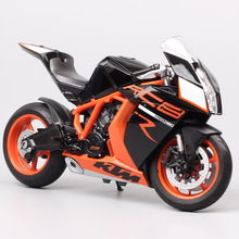 Welly 1:10 대형 오토바이 장난감 KTM 1190 RC8 R 슈퍼 자전거 다이 캐스트 및 장난감 차량 KTM 오토바이 모델 미니어처 선물 키즈