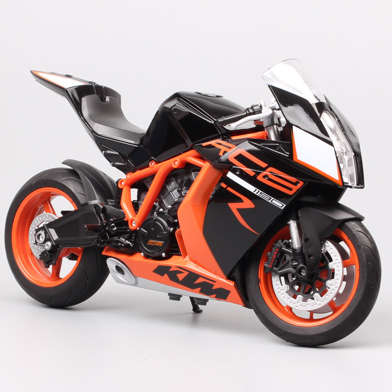 Welly 1:10 Large Scale Motorcycle Toy KTM 1190 RC8 R Super Bike Diecasts & Toy Vehicles KTM Motorbike Models Miniature Gift Kids