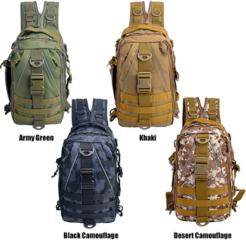 Multi-purpose Fishing Tackle Bag Tactical Sling Pack Backpack Crossbody Shoulder Bag Daypack for Outdoor Fishing Hiking Climbing Fishing Bags cb5feb1b7314637725a2e7: Army Green|Black Camouflage|Desert camouflage|Khaki