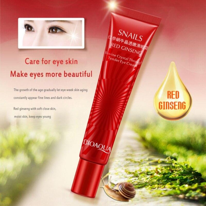 Beautiful Secret Key Face Beauty Red Ginseng Snail Eye Wonder Cream Eye Care Remove Dark Circles Anti-aging Moisturizer Repair