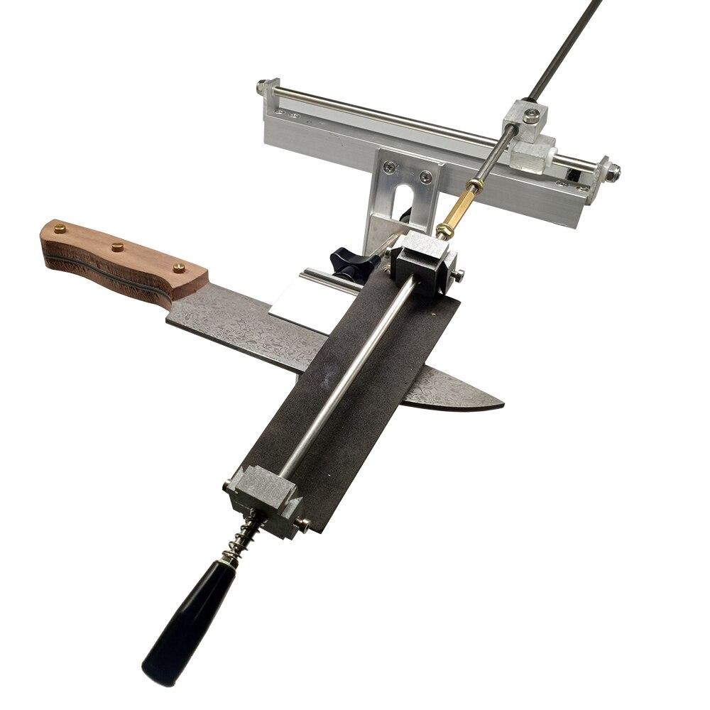 Affûteuse de couteau réglable KME outils de meulage meuleuse machine 200 #500 #1000 # diamant pierre à aiguiser cuir strop Sy-003